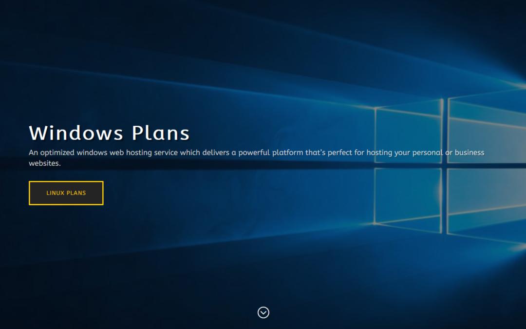 Windows Plans